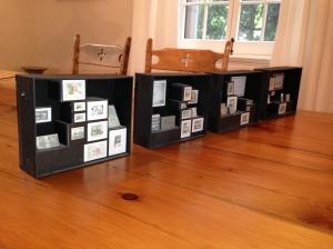 Maquettes de l'expositions Espaces de création