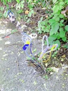 Fleur d'acier tricotée solo