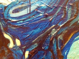"""""""Machiavel"""", détail Louise Prescott,  Acrylique sur toile, 1991"""