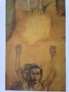 Artiste : François Vincent Estelle no.1, 1991. Huile sur papier marouflé sur panneau. 140 cm x 91,5 cm